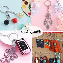 100 Pcs/Set Stainless steel DIY Key Chain Ring Adjustable Cr