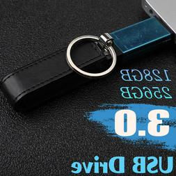 128 GB 256 GB USB 3.0 Key Chain Leather Flash Drive Memory S
