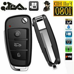 1280P HD Covert Hidden Key Chain Key Fob Spy Camera DVR  IR