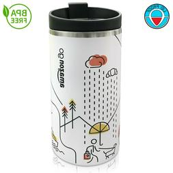 12oz Stainless Steel Travel Coffee Mug Tumbler Hot And Cold