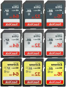 SanDisk memory card 16gb 32gb 64gb camera sd hc class 10 fla
