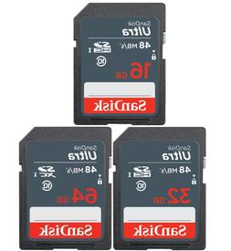 16GB 32GB 64GB - SanDisk ULTRA SDHC Class 10 Flash Memory Ca