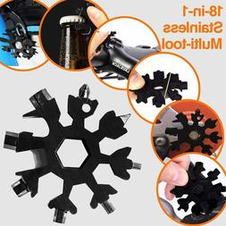 18in1 Snowflake Shape Stainless Tool Multi Tool Key Chain Sc