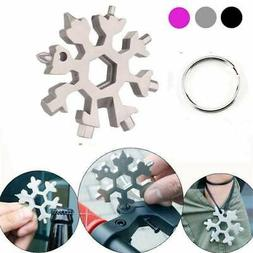 18in1 Stainless Multi Tool Portable Snowflake Shape Key Chai