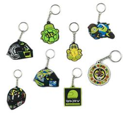 1pc Motorcycle Rubber Keyring Keychain Key Chain Key ring Fo