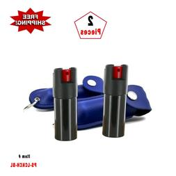 2 Pcs *BLUE* Police Magnum .50oz Case Key Chain Pepper Spray