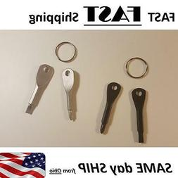 mini multi-tool -- 2 SETS -- key chain screwdriver set - key
