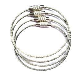 20/50X Stainless Steel Wire Keychain Cable Key Ring Chain Lu