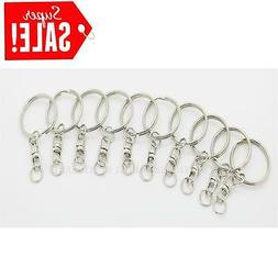 20Pcs Split Key Rings 25mm  With swivel Connector Key Chain,