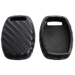 2Pack Silicone Carbon Fiber Pattern car Key case Cover Keych