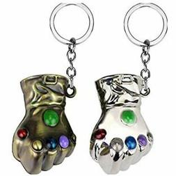 2Pack The Avengers 3 Infinity War Gauntlet Metal Keychain Th