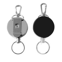 2PCS Heavy Duty Retractable Metal Reel Chain ID Holder Badge