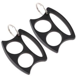 2pcs Self-defense Key Chain Finger Buckle Glove for Outdoor
