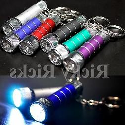 3 Portable LED Mini Flashlights Light Up Torch Keychain KeyR