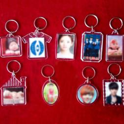 3PCS Photo Frame Keyring Keychain For Family Friends Couple