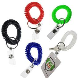 5 Pack - Ultimate Wrist Coil Camper Keychains for Work and P