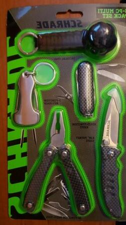 SCHRADE 5-PC MULTI PACK SET -POCKET KNIFE-MULTI TOOL PLIERS-