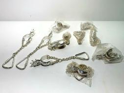"""5"""" Western Silver Plated Spur Key chain - lot of 11"""