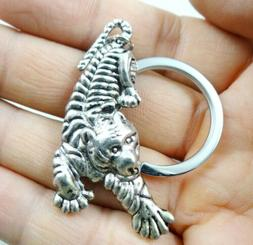 52*24MM Hand-carved tiger alloy Crafts, Key Chain, Key Ring
