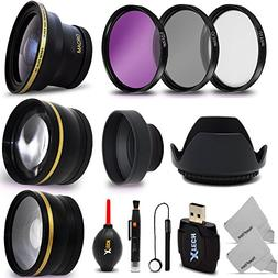 58mm Lens + Accessory Kit for CANON EOS Rebel T6i T6S T5i T4
