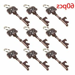 60 Lot  Vintage Skeleton Key Bottle Opener and Key Chain Bar