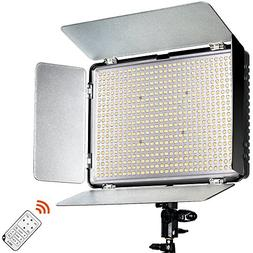 SAMTIAN 600 LED Dimmable Ultra High Power Panel Camcorder Vi