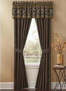 Aztec Sueded Window Valance by Seventh Avenue new 16 x 80 in