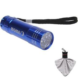 Canon 9 LED Push Button Flashlight  with Microfiber Cleaning