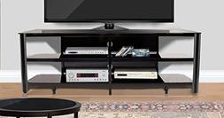 "Innovex TPT73G29 Oxford Fold N Snap 73"" Glass Tv Stand for"