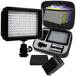 LimoStudio, AGG1318, 160 LED Video Photo Light for Digital D