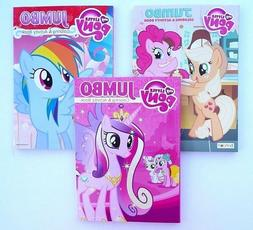 Lot of 3 MY LITTLE PONY Jumbo Coloring and Activity Books, f