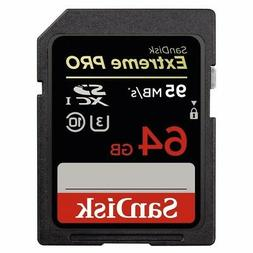 SanDisk Extreme PRO 64GB up to 95MB/s UHS-I/U3 SDXC Flash Me
