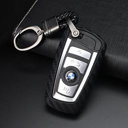 YIKA Carbon Fiber Style Black Carbon Fiber Texture Car Key C