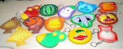 A Faux Leather Key Chain Coin Purse Various Colors & Pattern