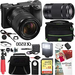 Sony a6500 4K Mirrorless Camera with 18-135mm & 55-210mm Len