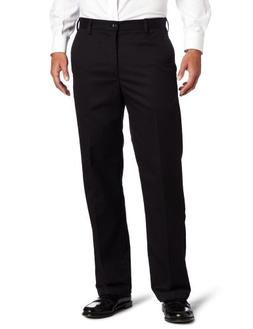 IZOD Men's American Chino Flat Front Straight-Fit Pant, Blac
