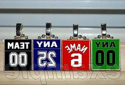 Any TEAM # Number Name Custom JERSEY Scrabble Tile Necklace