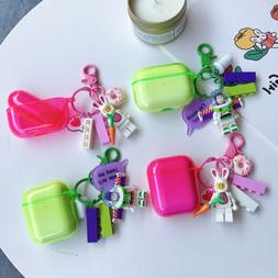 For Apple AirPods 1/2 Pro Cute 3D Toy Story Keychain Shockpr