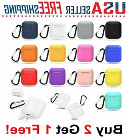 For Apple AirPods 1 & 2 Silicone Cover Full Protective Case+