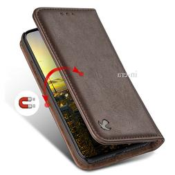 For Apple iPhone X Genuine Real Leather Flip Card Wallet Cas
