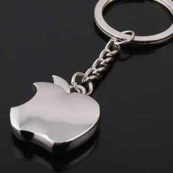 apple logo metal key chain apple keychain