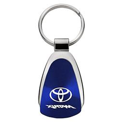 Au-Tomotive Gold, INC. Toyota Matrix Blue Teardrop Keychain