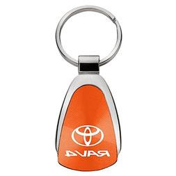 Au-Tomotive Gold, INC. Toyota Rav4 Orange Teardrop Keychain