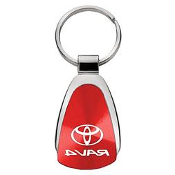 Au-Tomotive Gold, INC. Toyota Rav4 Red Teardrop Keychain