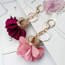 Auger Key Chains Crown Flower Shaped Key Chains For Women Lo