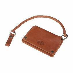 Dickies Barren Springs Leather Wallet With Key Chain Brown
