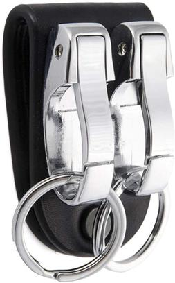 BEST Leather Belt Loop Key chain with 2 Detachable Clips&Key
