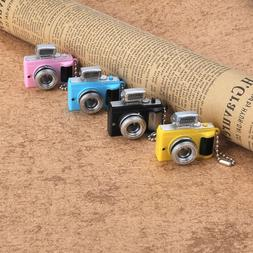 Black Cute Mini Toy Camera Charm Keychain Keyring With Flash