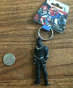 Black Panther Marvel Soft Touch PVC Keyring Key Chain Key Ri