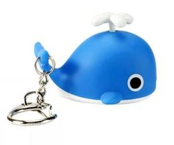 """Blue Whale Keychain LED Light Up With Sound 2"""" US Seller"""